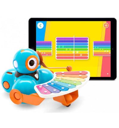 Wonder Workshop Dash Xylophone accessory with iPad
